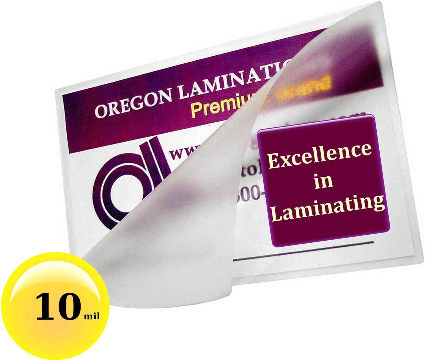 500 Letter 10 Mil Laminating Pouches Laminator Sleeves 9 x 11-1//2 Quality