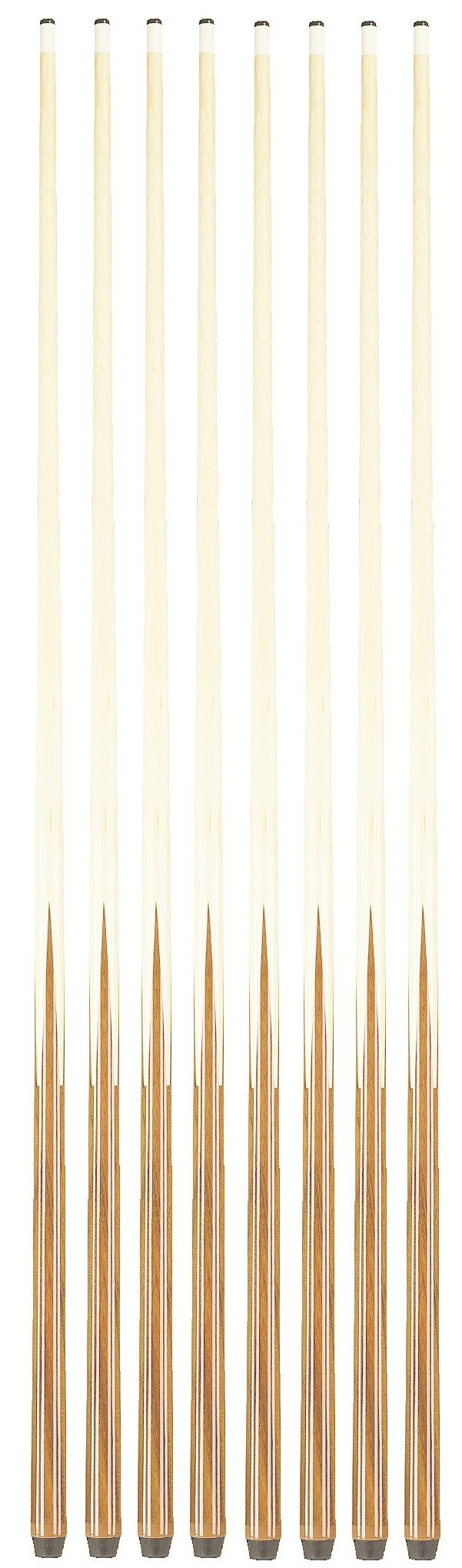 Players Set of 1 Piece House Pool Cue Sticks - Professional Quality For Commercial Or Residential Use (8 Cues)