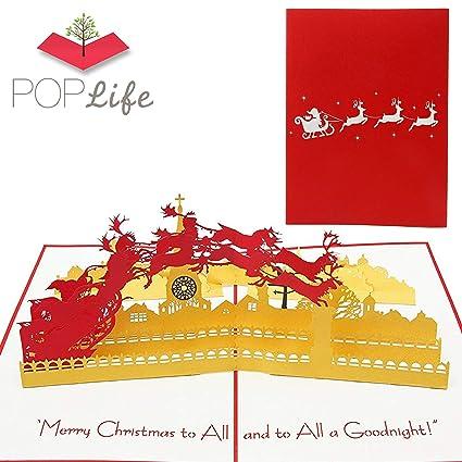 PopLife Cards Papá Noel y trineo tarjeta de felicitación de ...