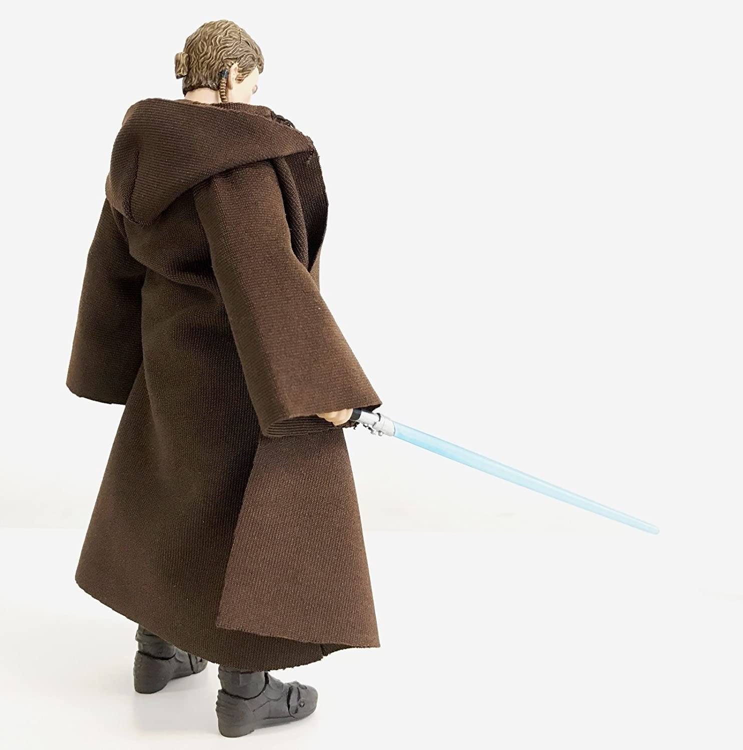 "1:12 Robe Star Wars Black Series Figuarts Jedi 6"" Dark Brown Anakin Skywalker"