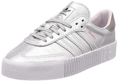 fe8a8b41156 adidas Originals Women s Sambarose Shoes Silver Metallic Silver  Metallic Orchid Tint 7 ...