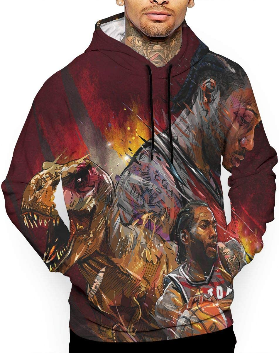 DLAZANA Basketball Player Funny Hoodie Sweatshirt for Mens