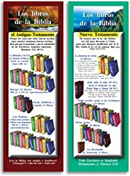 eThought S-BB-A007-25-2.75x8.25 Bible Verse Cards, by - Los Libros de la Biblia (Books of The Bible in Spanish) - Pack of 25 Bookmark Size Cards