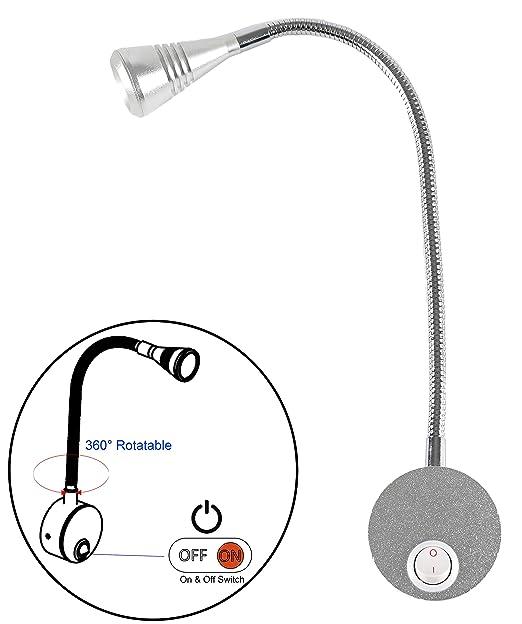 Amazon Com Facon 12v Led Bedside Light Rv Reading Light Adjustable