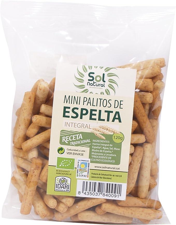 Sol Natural Mini Palitos de Espelta Integral - Paquete de 18 x 120 gr - Total: 2160 gr: Amazon.es: Alimentación y bebidas