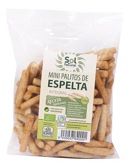 Sol Natural Mini Palitos de Espelta Integral - Paquete de 18 x 120 gr - Total