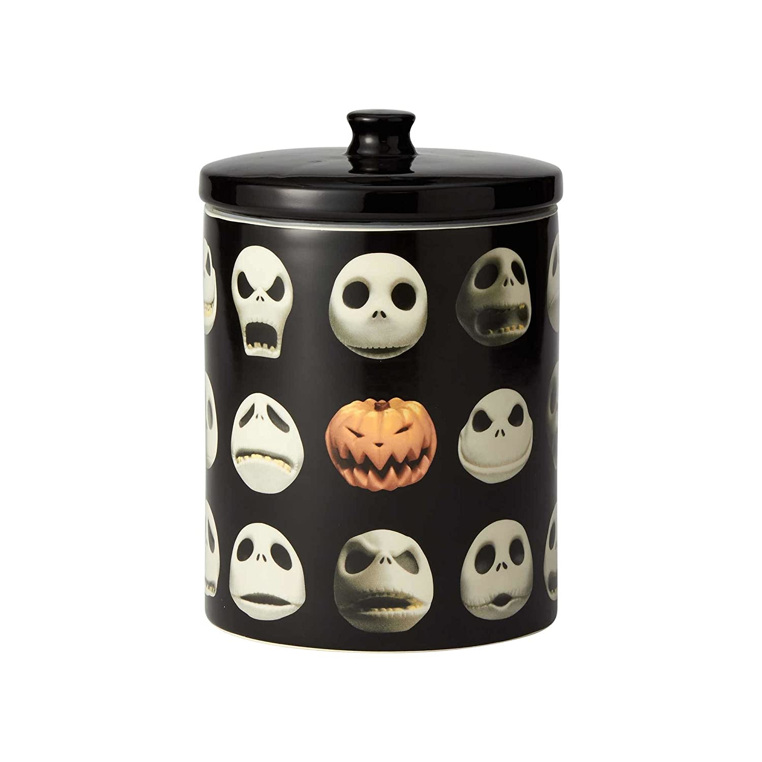 "Enesco 6001019 Disney Ceramics ""Nightmare Before Christmas"" Jack Cookie Jar 9.25 inch Black"