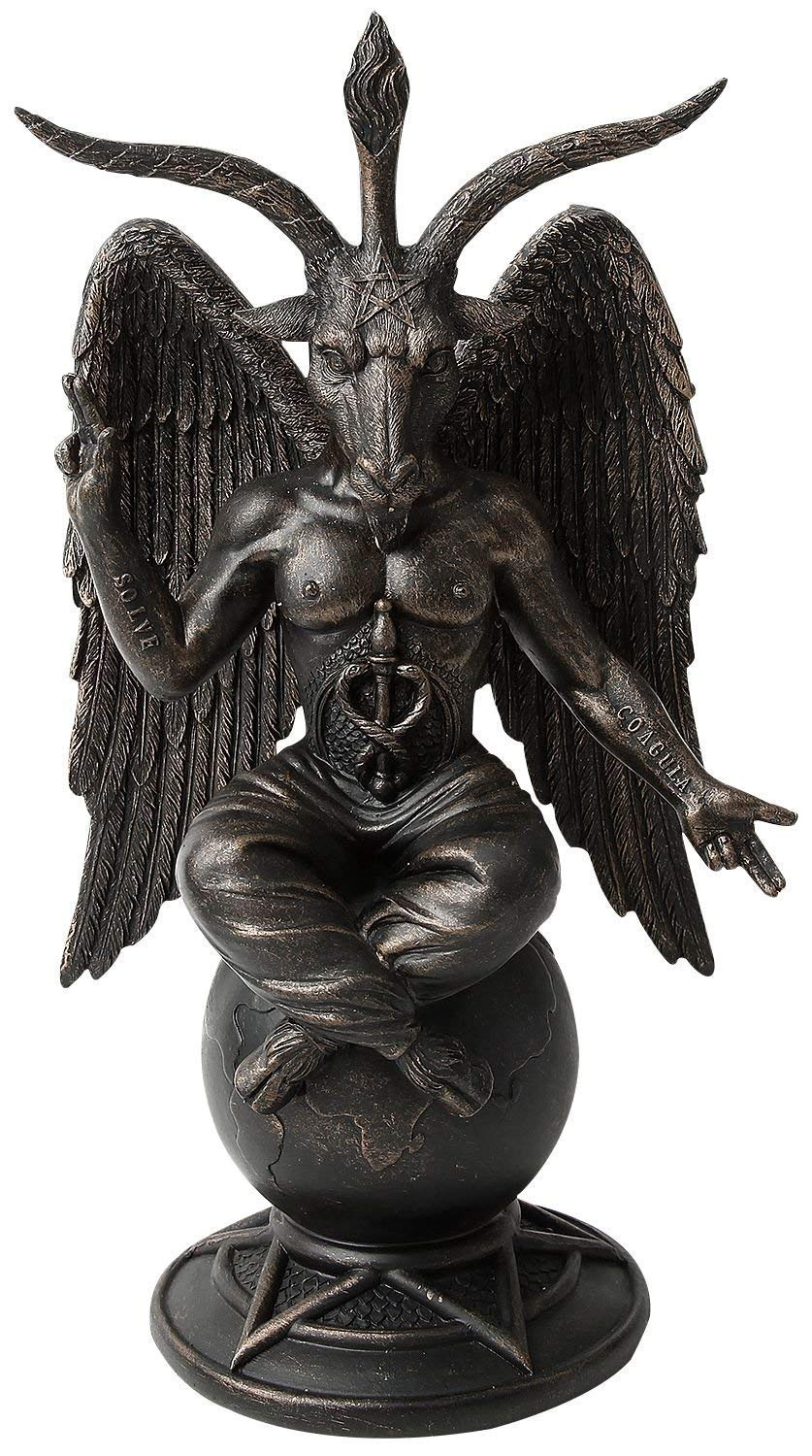 Baphomet Antiquity Figurine Satanic Demon Occult Goat of Mendes Statue Pagan Ornament