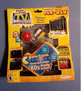 9a1a83fee Namco Ms. Pac-Man Plug   Play with 5 TV Games  Amazon.co.uk  Toys ...