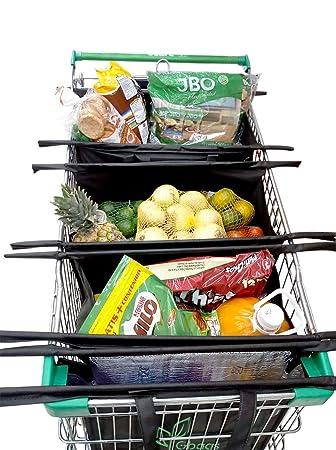 Gbags - Bolsas reutilizables para la compra con bolsa de refrigeración, juego de 4 bolsas