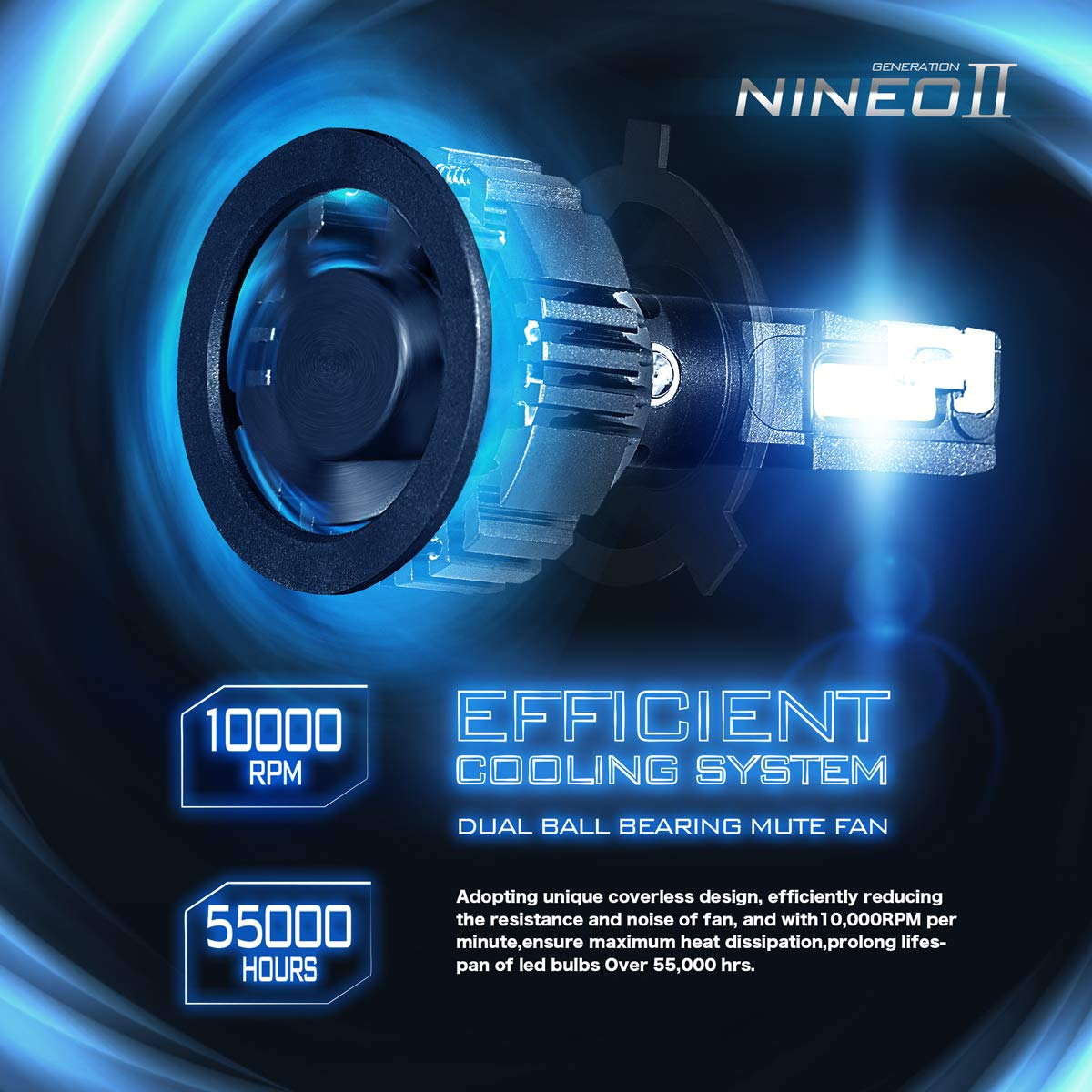 NINEO H11 H8 H9 LED Headlight Bulbs  Extremely Bright All-in-One Conversion Kit