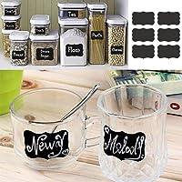 ARTISTIC9(TM) tahta çıkartma Craft Candy Jar Organizer etiket mutfak şişe & düğün Beers, parti, Noel, dekorasyon ve daha fazlası için