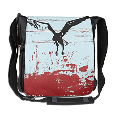1d6286496989 Lovebbag Eagle Flying On Murky Retro Paintbrush Background Wild Wings  Crossbody Messenger Bag
