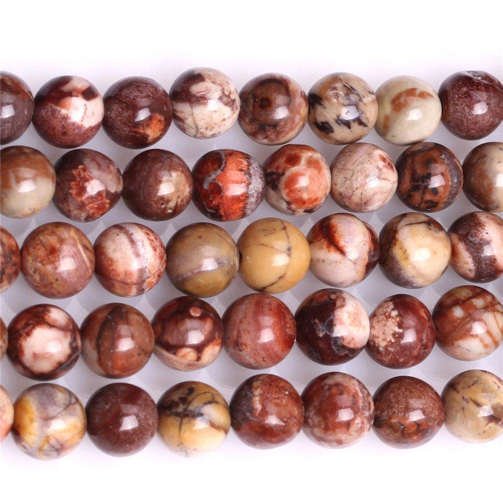 12mm Dark Red 12mm Lot de Perles Naturelles Rondes de 4/mm Rouge Fonc/é Pierre Pr/écieuse et Pierre Semi-pr/écieuses de Rhyolite pour Fabrication de Bijoux 38,1/cm