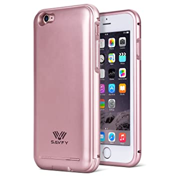 Funda Cargador iphone 6 / 6s, SAVFY® 2200mAh Certificado MFi ...
