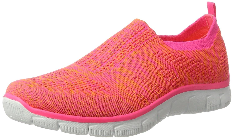 Skechers Sport Women's Empire Inside Look Fashion Sneaker B01M1NMQ6C 7.5 B(M) US|Orange/Hot Pink