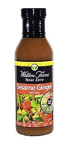 Walden Farms Salad Dressing, Sesame Ginger - 12 Fl. Oz.