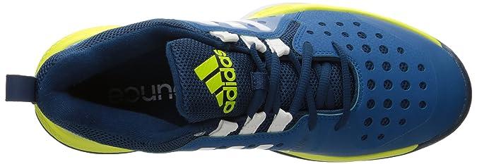 buy popular c27d8 da9bf Amazon.com  adidas Mens Barricade Classic Bounce Tennis Shoe Tech  SteelWhiteShock Slime Fabric 11.5 M US  Tennis  Racquet Sports