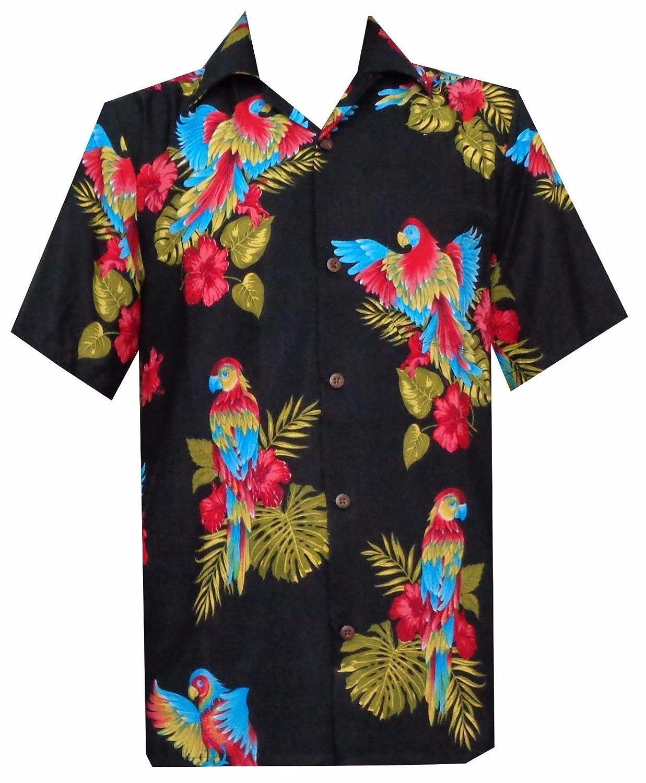 TALLA M. Alvish Hawaiano Camisa para Hombre Parrot/tucán impresión Playa Aloha Party