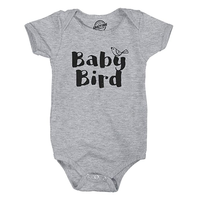 83b9b5bf3 Baby Bird Funny Infant Shirts Cute Baby Creeper Family Adorable Infant  Bodysuit (Heather Grey)