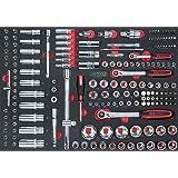 """KS Tools 711.1011 Module de Douilles/accessoires 1/4'' - 3/8'' - 1/2"""" 175 pièces"""