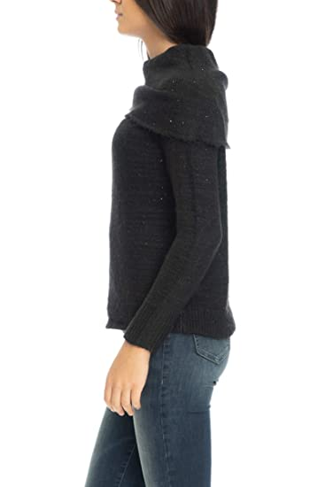 check out 1d988 7f9c9 ONLY Pullover a collo Alto Donna Nero: Amazon.co.uk: Clothing