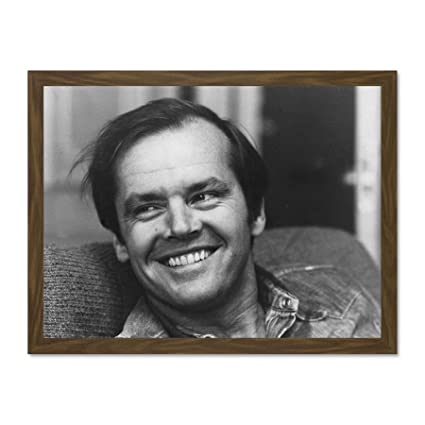 Kunst Portrait Actor Jack Nicholson Young Large Framed Art Print
