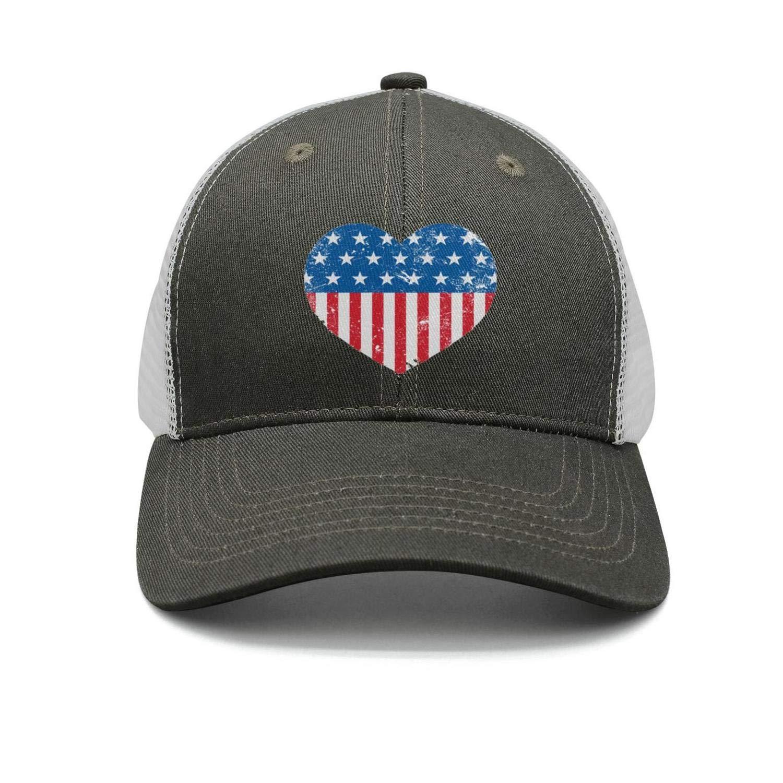 Small Art Butterfly American Flag Trucker Caps Men//Women New Hip Hop Hats