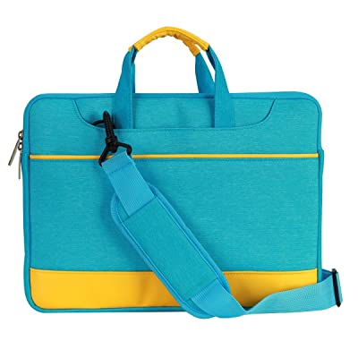 "13-13.3 Inch Laptop Sleeve Cover Carrying Case Bag for DELL XPS 13"" Inspiron HP Stream Pavilion 13.3"" SPECTRE X360 ASUS Samsung (13-13.3, Blue/Yellow Shoulder bag)"