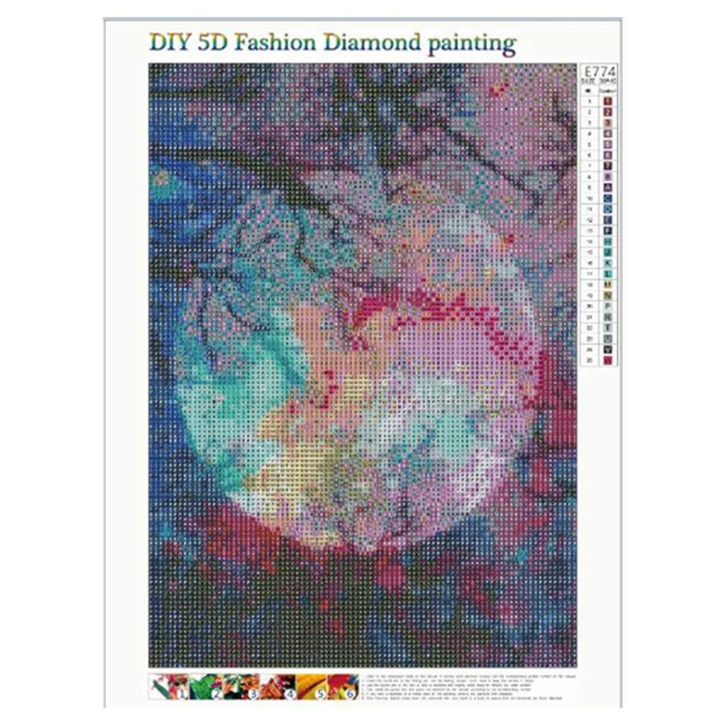 Plan/ète Xinantime DIY Peinture en Diamant 5D DIY Diamond Painting Strass Complet Broderie kit Canevas Chambre Maison Salon caf/é librairie Peinture /à la Main Diamant Kits d/écoration
