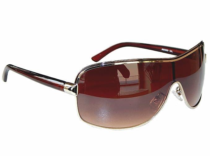 Coole Sonnenbrille Aviator Brille Monoglas Sportlicher Style Damen Herren M 5 (Schwarz Rot) 3pMb0Q