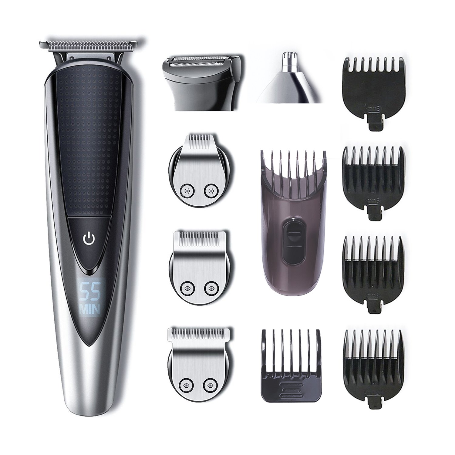 HATTEKER Beard Trimmer Kit For Men Cordless Mustache Trimmer Hair Trimmer Body Groomer Kit Of Nose Hair Trimmer Precision Trimmer Waterproof USB Rechargeable 5 In 1