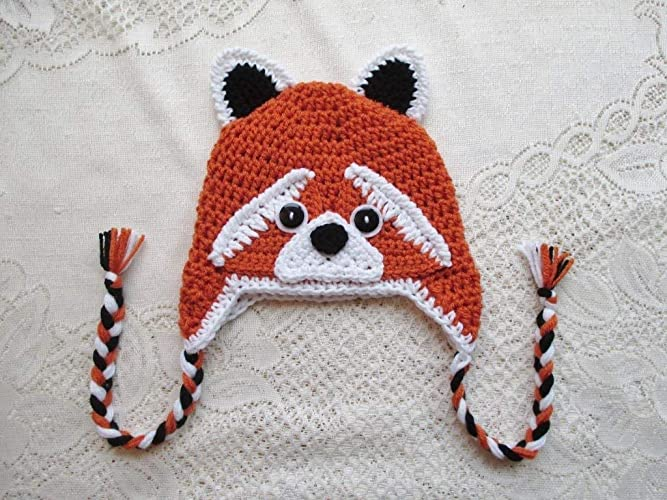 15ff1687045ed Amazon.com: Crochet Red Panda Hat - Winter Hat or Photo Prop ...