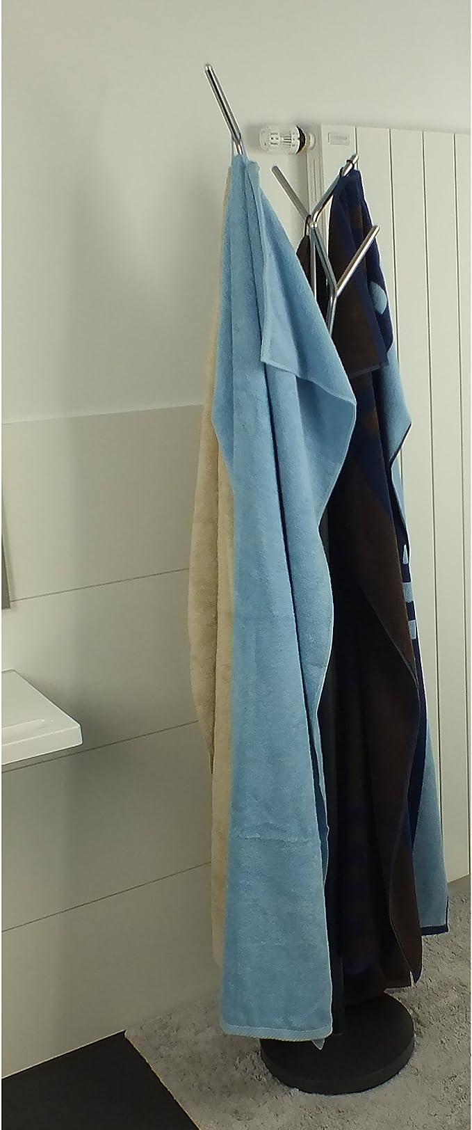 verniciatura a polvere Attaccapanni per bagno colore antracite metallo opaco cromato kela Sinerio 22233