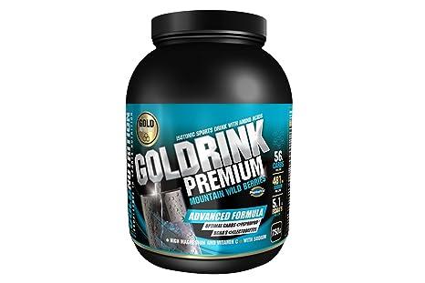 GoldNutrition Goldrink Premium Isotónico, Sabor Frutos Rojos - 750 gr