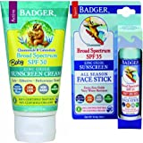 Badger Baby Sunscreen SPF 30+ and Face Stick