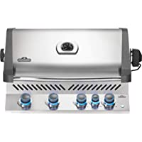 Napoleon BIP500RBNSS-3 Built-in Prestige 500 RB Natural Gas Grill Head, sq.in. + Infrared Side and Rear Burners, Stainless Steel