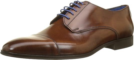 TALLA 40 EU. Azzaro Remake, Zapatos de Cordones Derby para Hombre