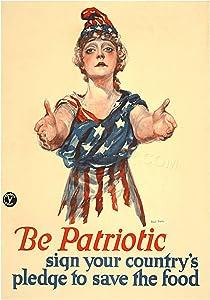 The Art Stop WAR 1918 Pledge to Save Food WW1 Vintage AD Print F12X7725