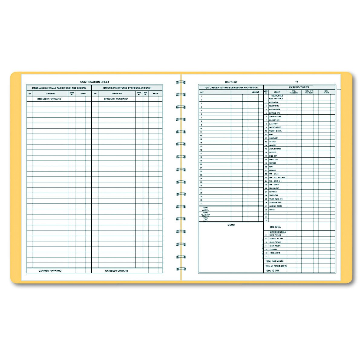 Dome 612 Bookkeeping Record, Tan Vinyl Cover, 128 Pages, 8 1/2 x 11 Pages by DomeSkin