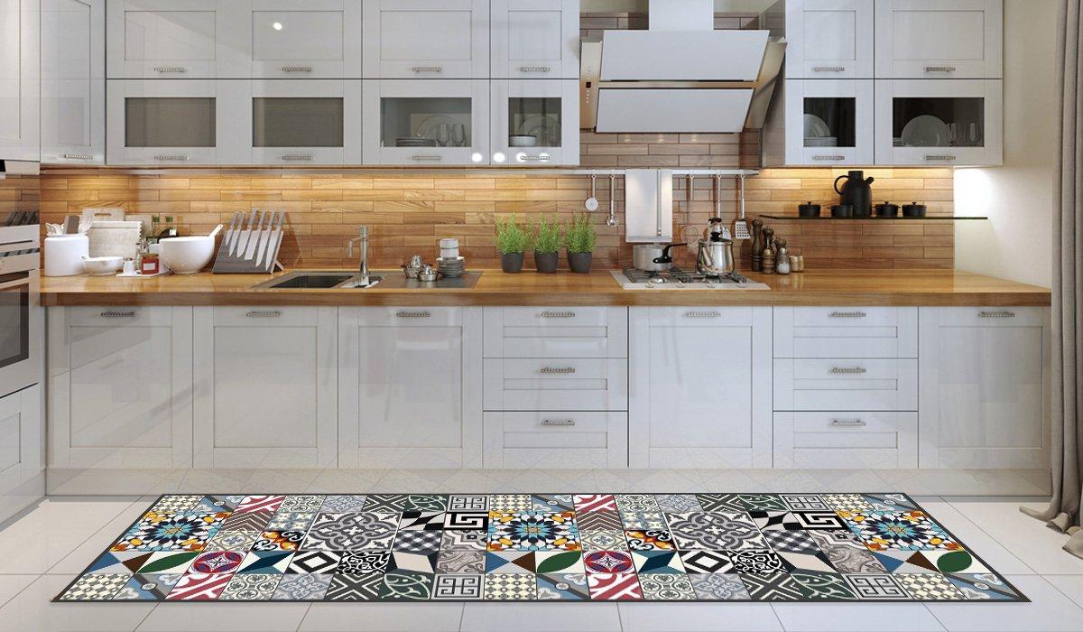 Tappeto cucina lavabile in lavatrice, passatoia cucina, 52cm x 100cm ...
