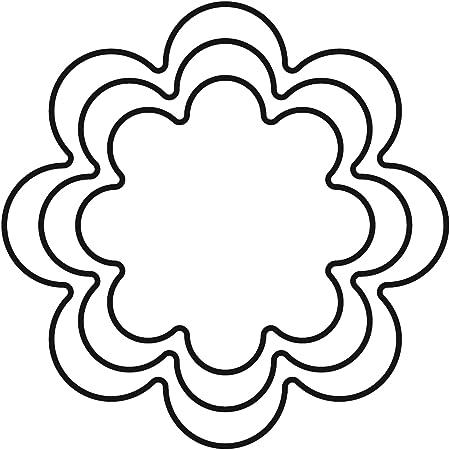 Fiori 8 Petali.Kaiser Terrassen 3 Stampini Per Biscotti A Forma Di Fiore A 8