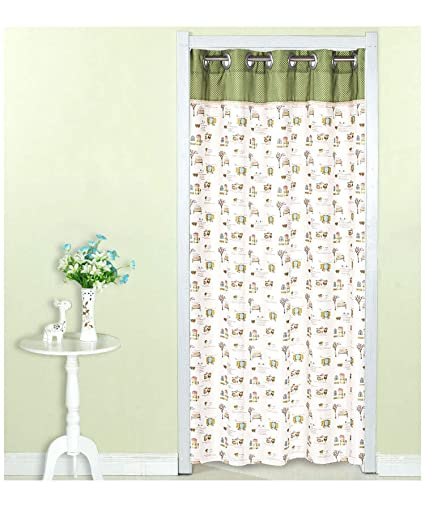 Amazon.com: SunnyWarm Curtain Fabric Long Partition Curtain Bedroom ...