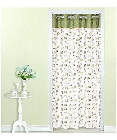 Amazon.com: SunnyWarm Curtain Fabric Long Partition Curtain ...