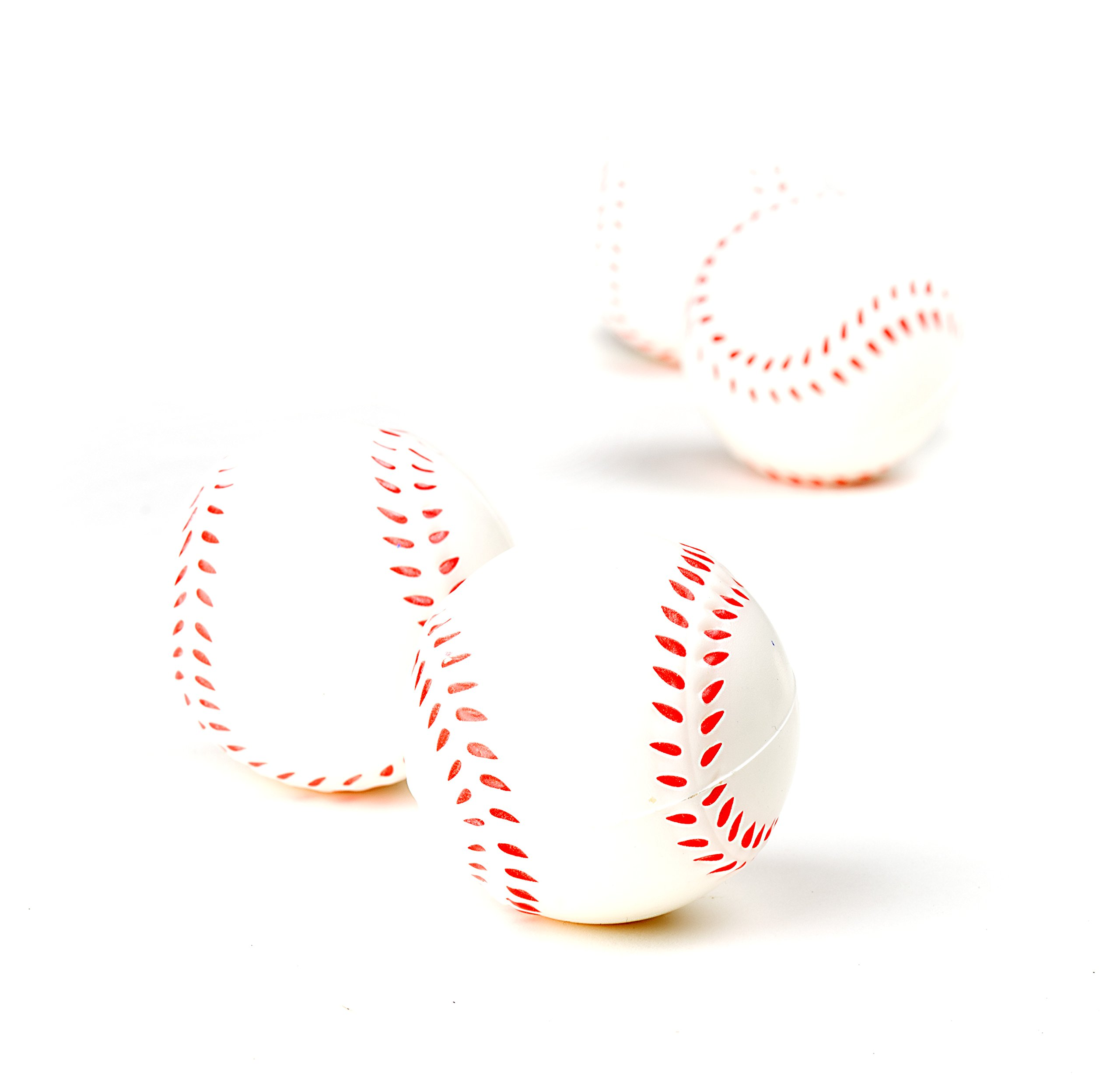 Baseball Sports Themed 2.5-Inch Foam Squeeze Balls for Stress Relief, Relaxable Realistic Baseball Sport Balls - Bulk 1 Dozen by Neliblu (Image #4)