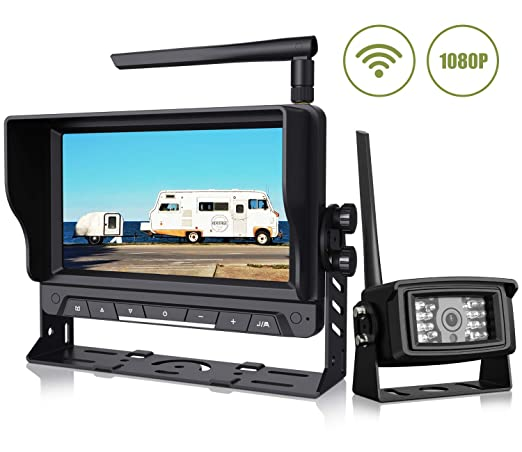 Wireless Backup Camera With 7 Digital Monitor Kit 1080p Rear View Camera Observation System Waterproof Reverse Camera For Travel