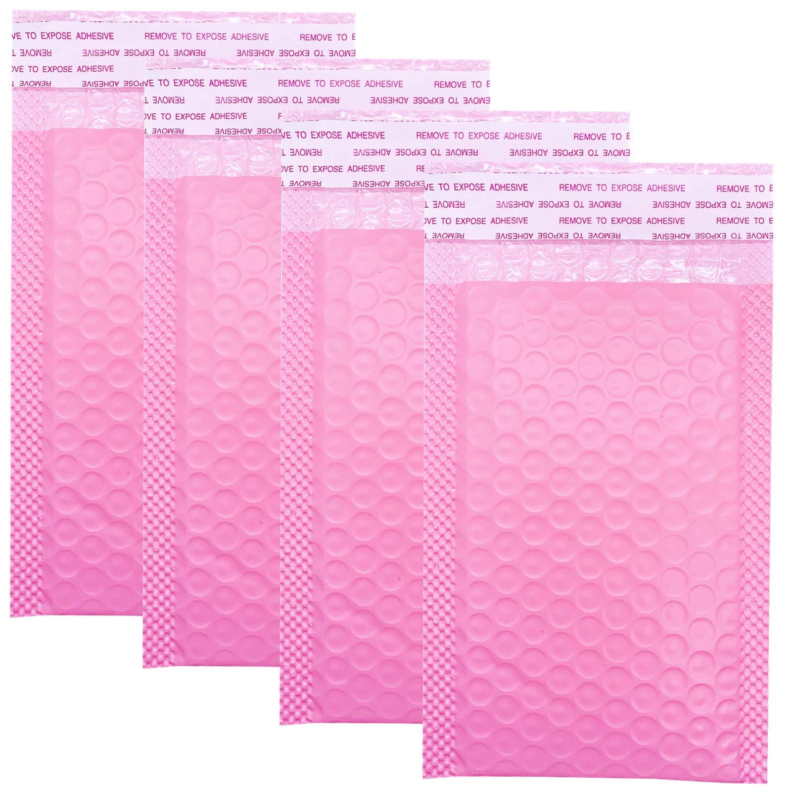 50 Sobres de Correo Rosa Acolchados con Burbujas (10x15cm)
