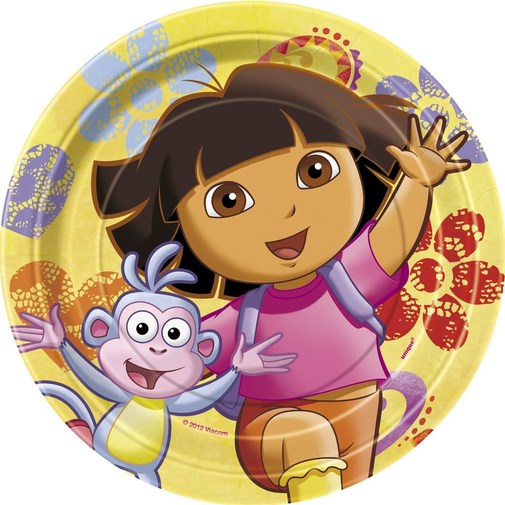 Dora the Explorer Dessert Plates, 8ct