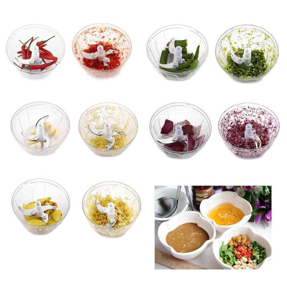 Compra Anokay nuevo mini procesadores de alimentos manual universal procesador de alimentos / multi cutter / mezclador / creadores de la salsa / salsa de ...