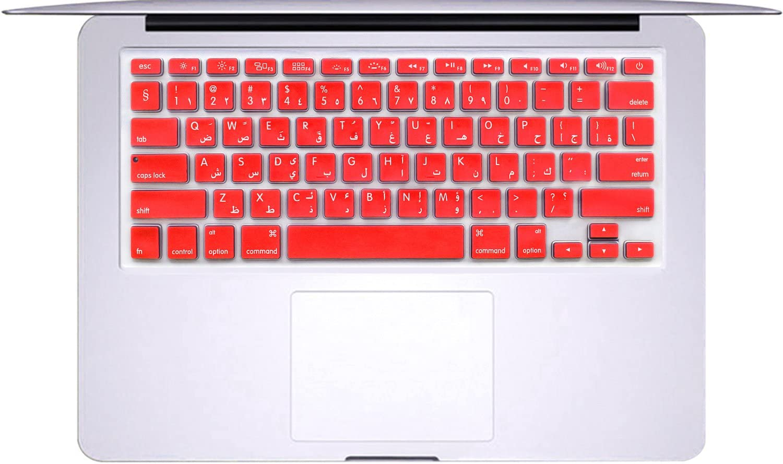 Korean Language, A- Black Masino Korean Language Silicone Keyboard Cover Skin for MacBook Air 13 MacBook Pro with or Without Retina Display 13 15 17 MC184LL//B